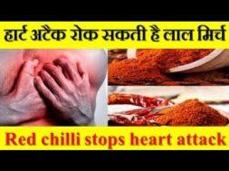हार्ट अटैक रोक सकती है लाल मिर्च  Red chilli stops heart attack
