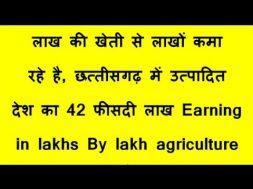 लाख की खेती से लाखों कमा रहे है, छत्तीसगढ़ में उत्पादित देश का 42 फीसदी लाख