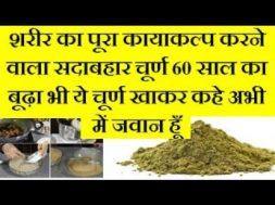Mahashaktishali sadabahar churn शरीर का पूरा कायाकल्प करने वाला सदाबहार चूर्ण