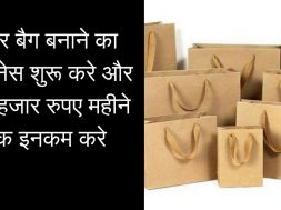 Starting Paper Bag Making business and High Profit Margin Business Planलगाइए पैपर बैग बनाने की यूनिट