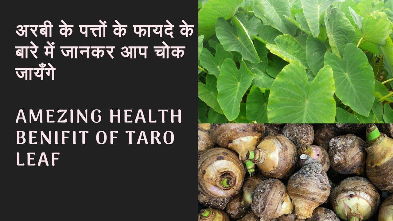 Amezing health benifit of taro leaf   Arabi ki sabji aur patto ke fayde