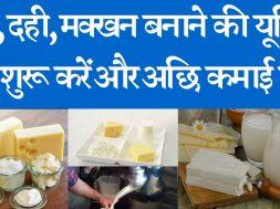 Start and run a milk processing plant and earn good income  दूध, दही, मक्खन बनाने की यूनिट शुरू करें