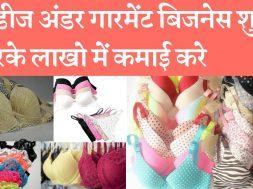Ladies undergarments business is a profitable business लेडीज अंडरगारमेंट्स बिजनेस कम पूंजी लगाकर लाख