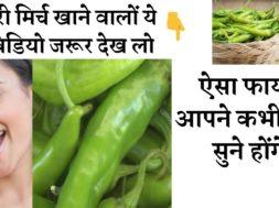 हरी मिर्च खाने से होते हे ये चौंका देने वाले फायदे | Benefits of green chillies #greenchillie