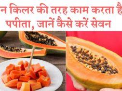 पेन किलर की तरह काम करता है पपीता, जानें कैसे करें सेवन   ||  papaya acts like a painkiller