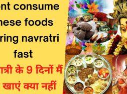 नवरात्रि में क्या खाना चाहिए और क्या नहीं || What should be eaten in Navaratri || Navratri Food 2021